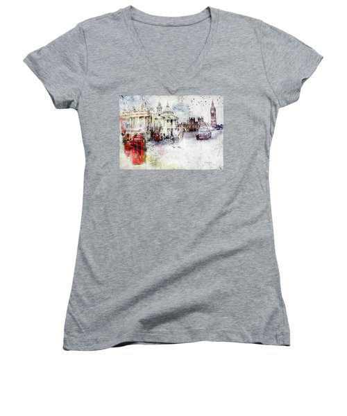 A Sense Of Time Women's V-Neck T-Shirt (Junior Cut) by Nicky Jameson