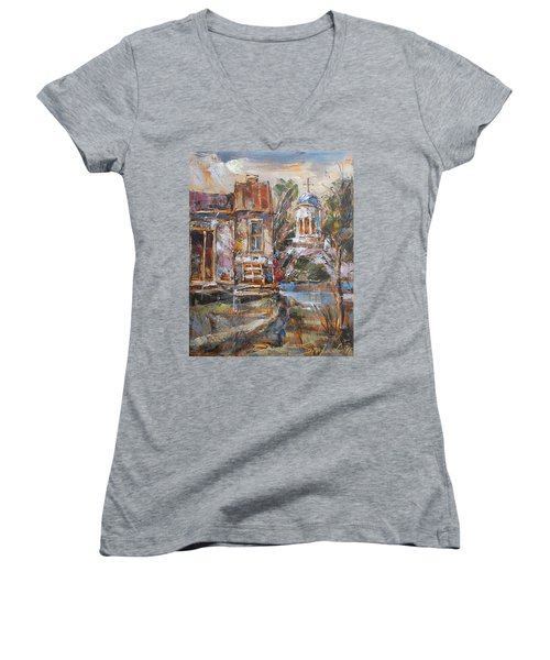 A Silent Afternoon Women's V-Neck