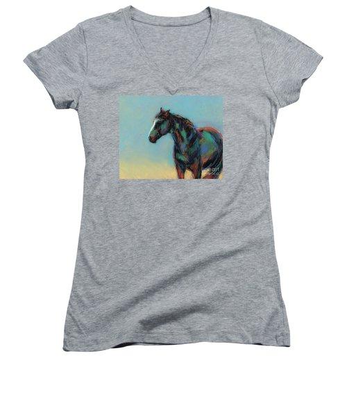 A Soft Breeze Women's V-Neck T-Shirt (Junior Cut) by Frances Marino