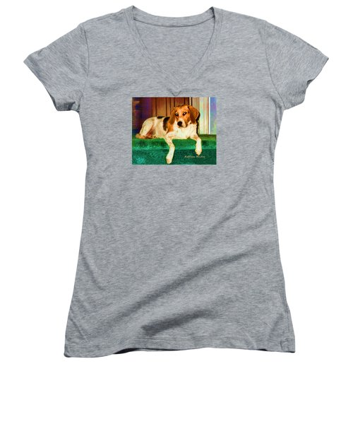 A Special Beagle Women's V-Neck (Athletic Fit)