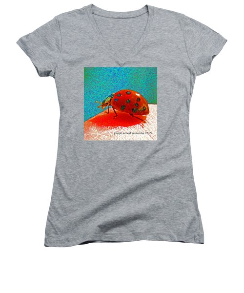 A Spring Lady Bug Women's V-Neck