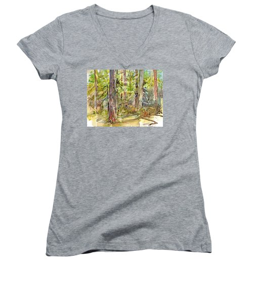 A Stand Of Trees Women's V-Neck