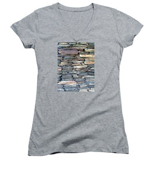 A Stone's Throw Women's V-Neck T-Shirt (Junior Cut) by Angela Annas