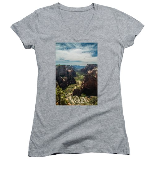 A Storm Is A' Brewing Women's V-Neck