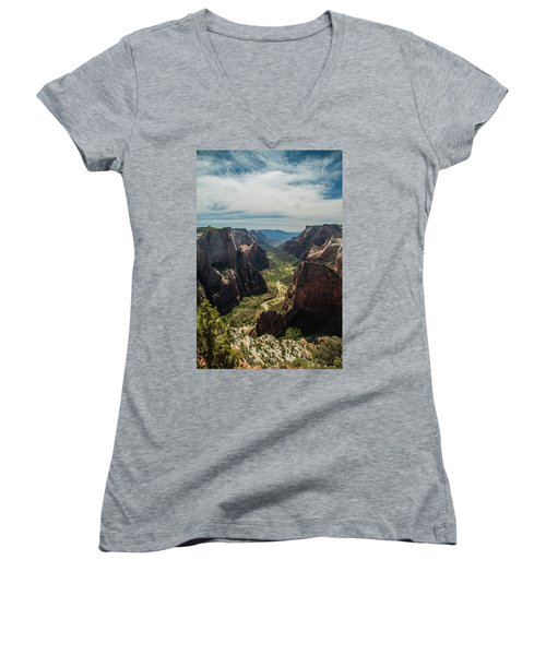 A Storm Is A' Brewing Women's V-Neck (Athletic Fit)