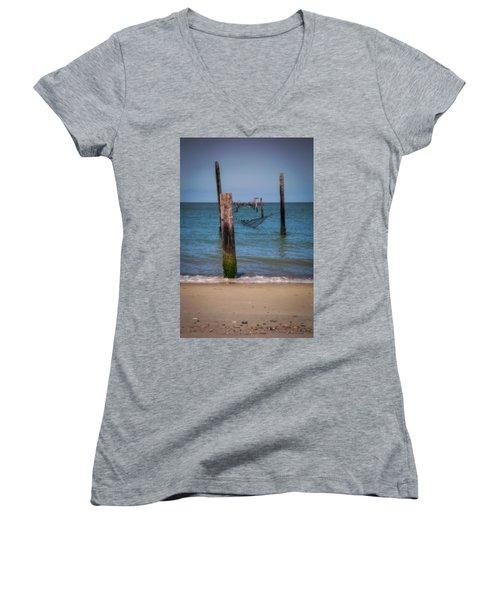 A Study Of Threes Women's V-Neck T-Shirt (Junior Cut) by David Cote