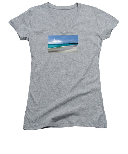 Women's V-Neck T-Shirt (Junior Cut) featuring the digital art A Summer Day by Anthony Fishburne