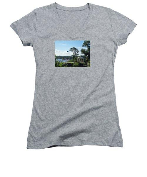 A Summer Day Women's V-Neck T-Shirt (Junior Cut) by Lyric Lucas