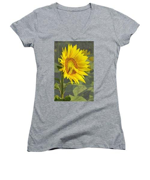 A Sunflower's Prayer Women's V-Neck (Athletic Fit)