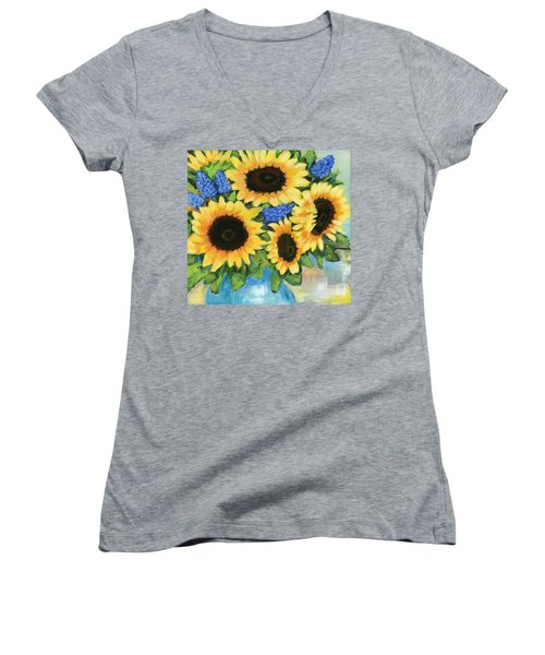 A Sunny Arrangement Women's V-Neck (Athletic Fit)