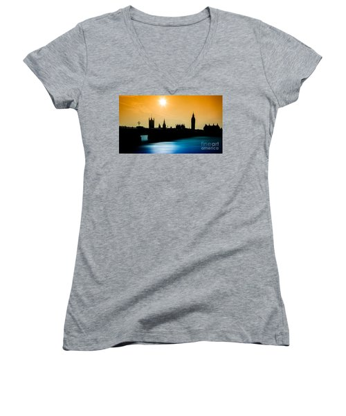 A Sunny Shape Women's V-Neck T-Shirt (Junior Cut) by Giuseppe Torre