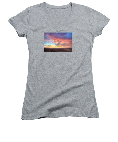 A Sunset Show Women's V-Neck (Athletic Fit)