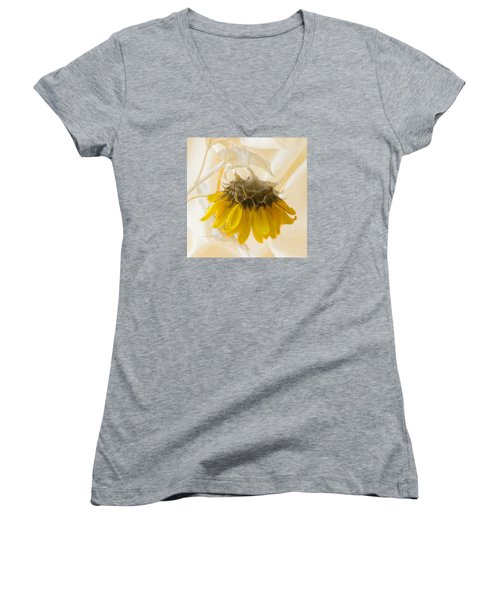 A Suspended Sunflower Women's V-Neck (Athletic Fit)