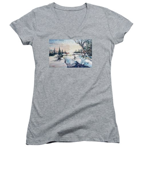 A Taste Of Winter Women's V-Neck (Athletic Fit)
