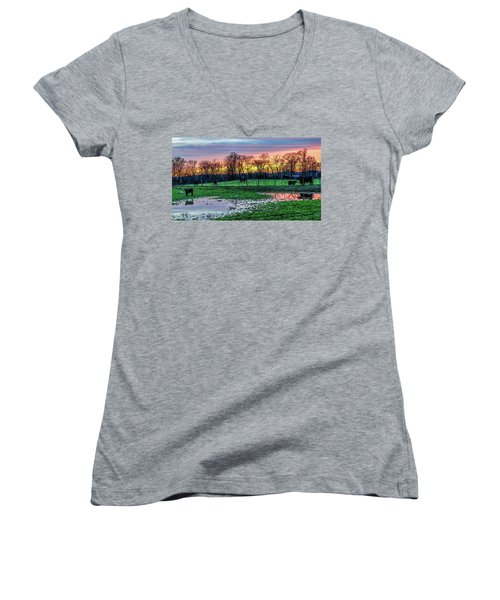 A Time For Reflection Women's V-Neck (Athletic Fit)