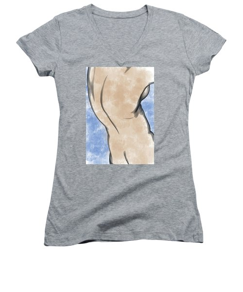 A Torso Women's V-Neck T-Shirt (Junior Cut) by Peter J Sucy