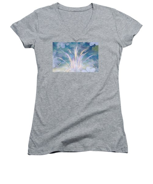 A Touch Of Spring Women's V-Neck T-Shirt (Junior Cut) by Sherri's Of Palm Springs