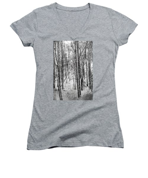 A Tree's View In Winter Women's V-Neck