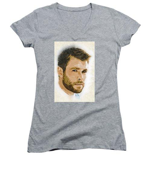 A Tribute To Chris Hemsworth Women's V-Neck