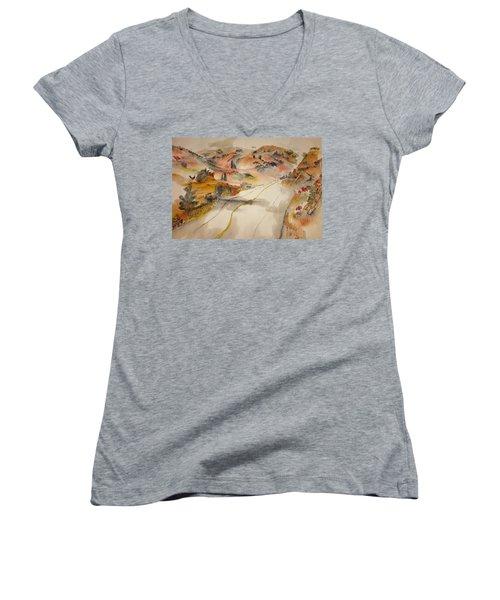 a trip to Lewistown  in Autumn  album Women's V-Neck T-Shirt (Junior Cut)