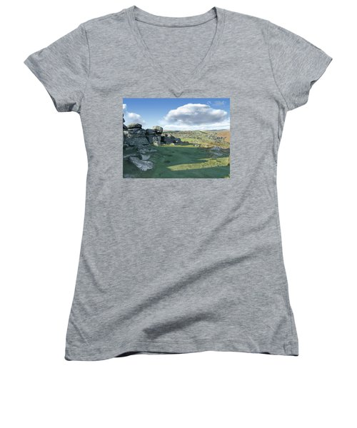 A View From Combestone Tor Women's V-Neck
