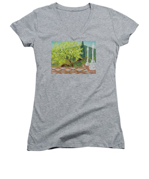 A View From Hearst Castle Women's V-Neck
