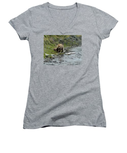 A Walk Along The Creek Women's V-Neck (Athletic Fit)