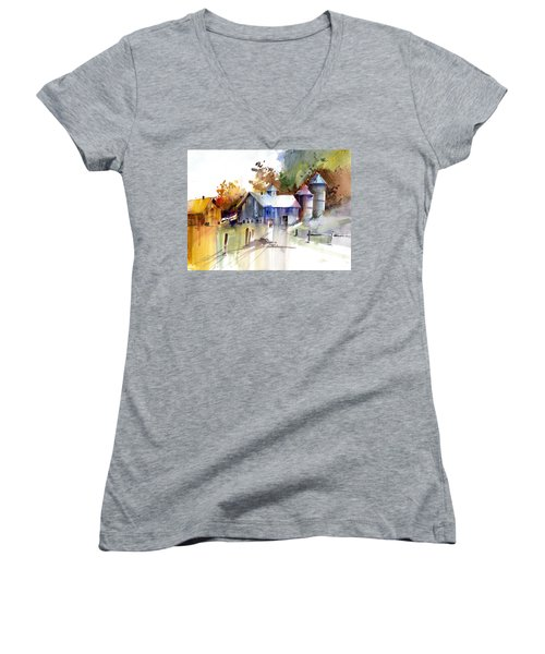A Walk To The Barn Women's V-Neck