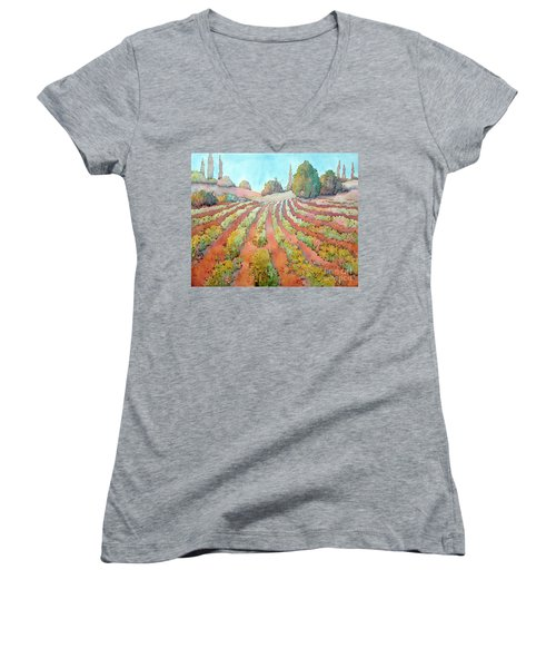 A Way Of Life Women's V-Neck T-Shirt (Junior Cut) by Joyce Hicks