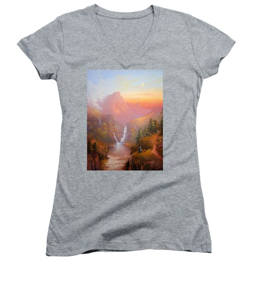 A Welcome Sight Women's V-Neck (Athletic Fit)