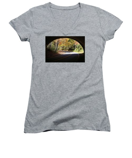 A Well Rounded Perspective Women's V-Neck T-Shirt (Junior Cut) by Lamarre Labadie