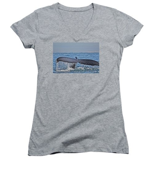 A Whale Of A Tale Women's V-Neck