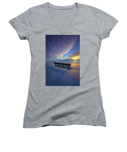 A Whole World In Front Of Us Women's V-Neck