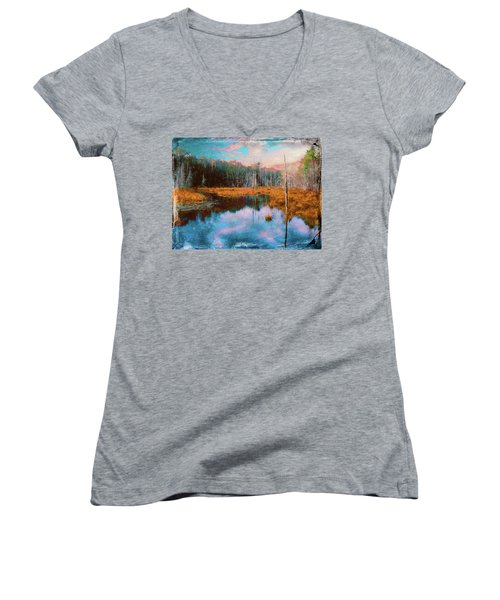 A Wilderness Marsh Women's V-Neck (Athletic Fit)