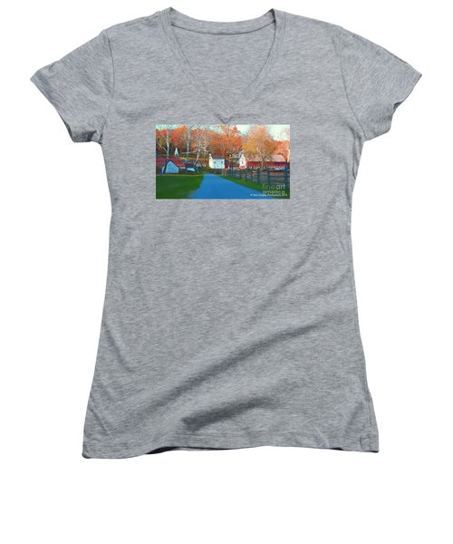 A World With Octobers Women's V-Neck (Athletic Fit)