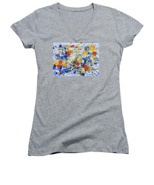 Michigan No 4 Women's V-Neck T-Shirt