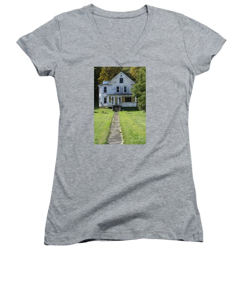 Abandoned Home, Lyndon, Vt. Women's V-Neck T-Shirt