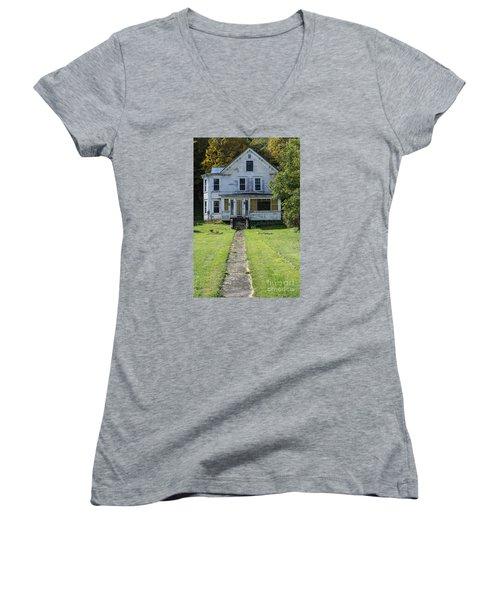 Abandoned Home, Lyndon, Vt. Women's V-Neck (Athletic Fit)