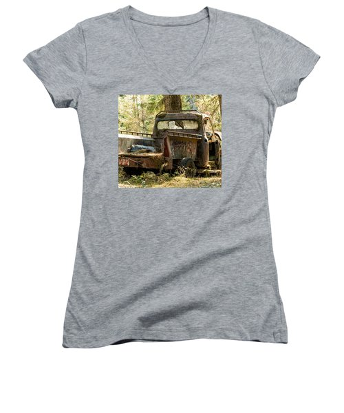 Abandoned And Abused Women's V-Neck T-Shirt (Junior Cut) by E Faithe Lester