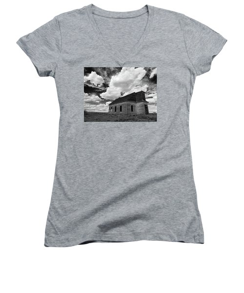 Abandoned Church  Women's V-Neck (Athletic Fit)