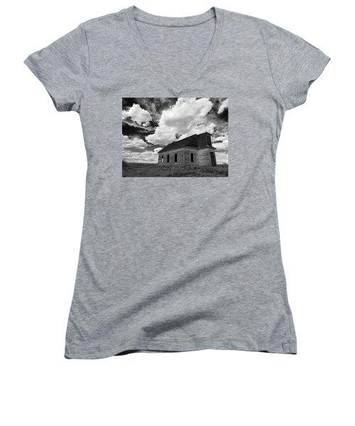 Abandoned Church  Women's V-Neck T-Shirt