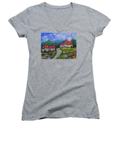 Abandoned Farm Women's V-Neck T-Shirt (Junior Cut)