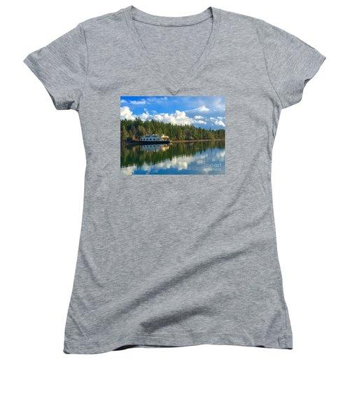 Abandoned Ferry Women's V-Neck T-Shirt