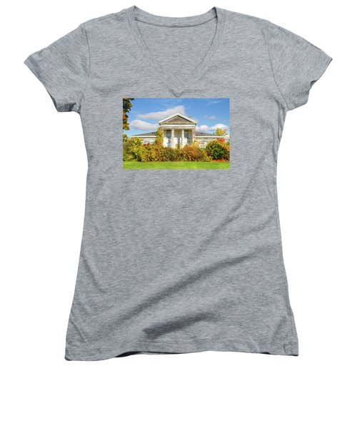 Abandoned Greek Revival Women's V-Neck (Athletic Fit)