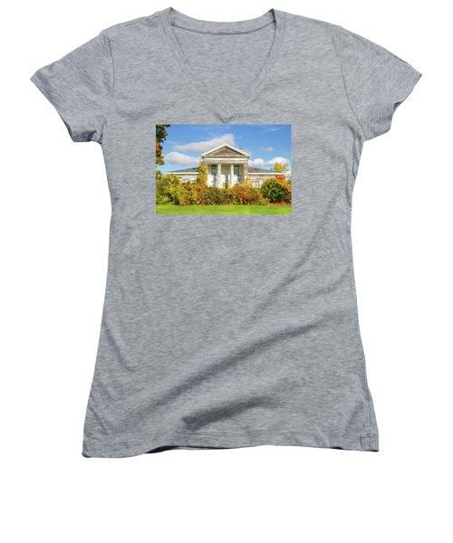 Abandoned Greek Revival Women's V-Neck T-Shirt