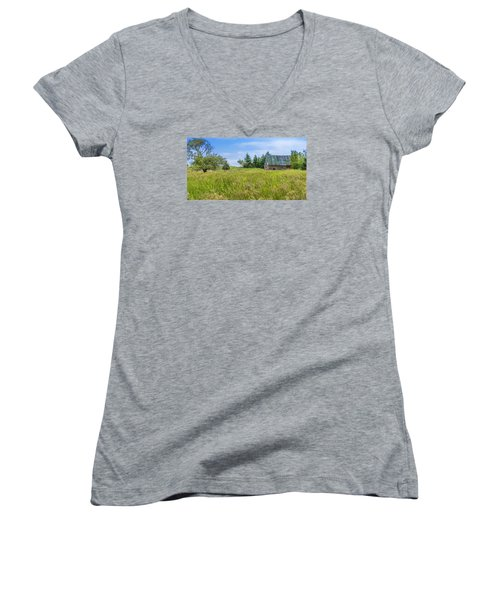 Abandoned House In Feltzen South Women's V-Neck (Athletic Fit)