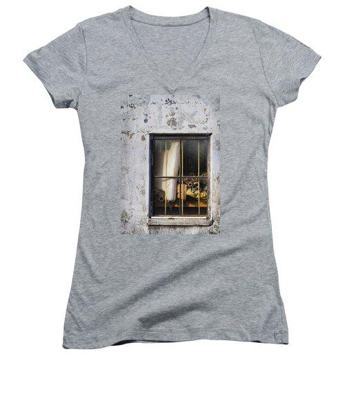 Abandoned Remnants Ala Grunge Women's V-Neck T-Shirt