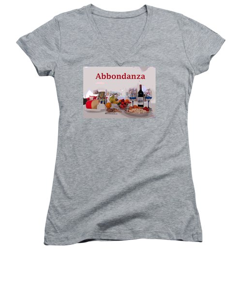 Abbondanza Women's V-Neck T-Shirt (Junior Cut)
