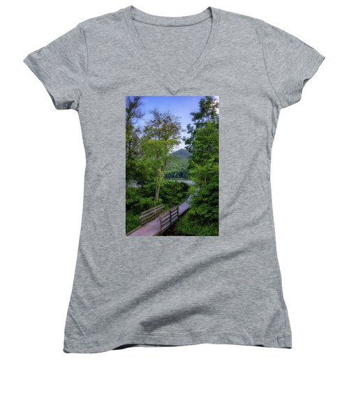 Abbott Lake Trail Women's V-Neck T-Shirt