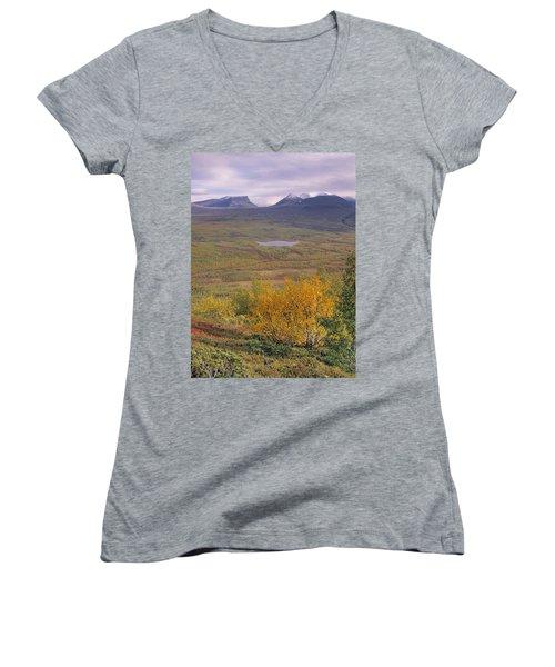 Abisko Nationalpark Women's V-Neck T-Shirt